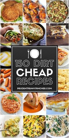 150 Dirt Cheap Recipes for When You Are Really Broke Say goodbye to ramen noodle. - 150 Dirt Cheap Recipes for When You Are Really Broke Say goodbye to ramen noodles! Check out these - Dirt Cheap Meals, Cheap Easy Meals, Cheap Dinners, Frugal Meals, Inexpensive Meals, Meals On A Budget, Budget Lunches, Cheap Meals For Two, Cheap Healthy Dinners