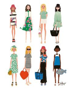 Kate Spade New York 2015 S/S Ready to Wear ©Illustrated by Minjee Kang. All Rights Reserved