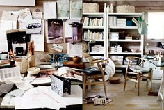 I have to post more photos than usual because the work of Danish photographer Ditte Isager is absolutely wonderful! I´m blown awa. Inside A House, Office Images, Clean Space, Workspace Inspiration, Design Inspiration, Leather Lounge, Office Workspace, White Tiles, Office Interiors