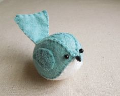 Embroidered Aqua Turquoise Felt Bird. #Incyinteriors #Dreamchildrensroom