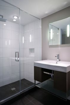 Restored 1969 Modern Glass House - modern - Bathroom - New York - Fivecat Studio | Architecture