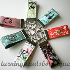 Shop for key fob on Etsy, the place to express your creativity through the buying and selling of handmade and vintage goods. Blackwork Embroidery, Embroidery Patterns Free, Embroidery For Beginners, Embroidery Techniques, Embroidery Monogram, Embroidery Applique, Machine Embroidery, Fabric Crafts, Sewing Crafts