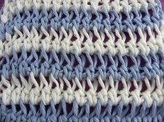 Tunisian Crochet - Half rods in the knitting stitch (IN GERMAN - If you are familiar with Tunisian Crochet you can watch this video to learn this stitch... The video is very good... Deb)
