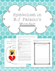 This is a lesson on symbolism that can be used with the novel Wonder by RJ Palacio. Lesson plan and student worksheet are included!*****************************************************************************You May Also Like:Wonder by RJ Palacio Novel Study UnitThe One and Only Ivan Novel Study Unit and Lapbook SetSadako and the Thousand Paper Cranes Novel Unit and ActivitiesThe Invention of Hugo Cabret Novel Study Unit and Lapbook SetFake Mustache Novel Study Unit and Lapbook SetBe the…