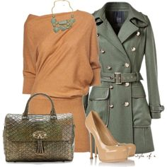 """""""Peach and Green"""" by styleofe on Polyvore"""