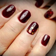 awesome 55 Amazing Designs for Burgundy Nails - Captivating and Trendy Check more at http://newaylook.com/best-designs-for-burgundy-nails/
