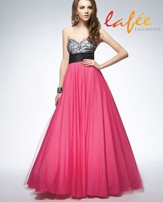 Raspberry Tart! So Pretty . Lafee Put Faceted Crystals On This Prom Dress And ItHas A Crinoline Skirt