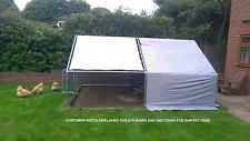 ROOF COVER FOR CHICKEN RUN WALK IN COOP POULTRY DOG RABBIT HEN CAGE PEN METAL +