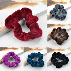 Pastel Frosted Heart Hair Bobbles Hairbands Elastics Girls Hair Accessories