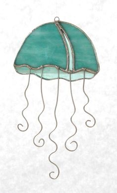 STAINED GLASS JELLYFISH by Dianesglasswork on Etsy