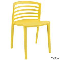 Modway Curvy Plastic Chair (Yellow)