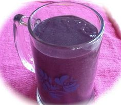 Pink-Vegan: Banana Blueberry Oat Smoothie