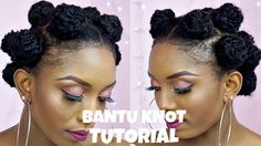 How To Bantu Knot Tutorial With Extensions On Short Natural Hair