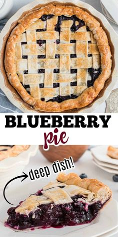 It's a classic for a reason--homemade Blueberry Pie with a lattice top never goes out of style! With juicy blueberries and an extra flaky crust, this is the only blueberry pie recipe you'll ever need. Frozen Blueberry Pie, Best Blueberry Pie Recipe, Homemade Blueberry Pie, Homemade Pie, Blueberry Recipes, Blueberry Ideas, Desserts Ostern, Köstliche Desserts, Best Dessert Recipes
