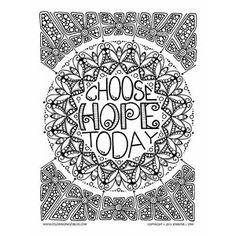 Free Hope Mandala Coloring Page
