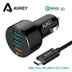 Get Best Price AUKEY Car Charger,Quick Charge 3.0 Car-Charger Fast Mobile Phone Usb Charger for iPhone 6/7/8/X Xiaomi mi5 Samsung Galaxy S8 etc #AUKEY #Charger #Quick #Charge #Car-Charger #Fast #Mobile #Phone #iPhone #6/7/8/X #Xiaomi #Samsung #Galaxy
