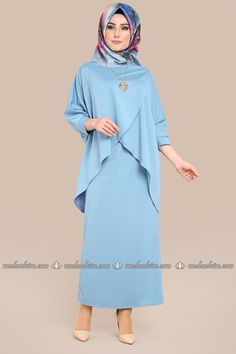 Yarasakol Triple Combination Baby Blue, You can collect images you discovered organize them, add your own ideas to your collections and share with other people. Abaya Fashion, Modest Fashion, Fashion Dresses, Muslim Women Fashion, Islamic Fashion, Abaya Mode, Hairstyle Trends, Hijab Stile, Hijab Style Tutorial