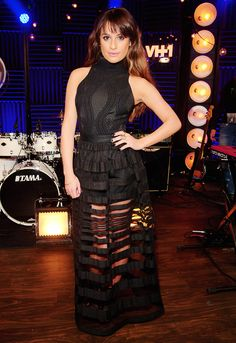 Lea Michele performs on VH1's Big Morning Buzz Live hosted by Nick Lachey