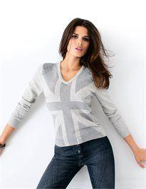 Damen Schurwoll-Pullover mit Kaschmir. #madeleinefashion