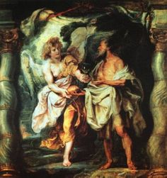 Page of The Prophet Elijah Receiving Bread and Water from an Angel by RUBENS, Peter Paul in the Web Gallery of Art, a searchable image collection and database of European painting, sculpture and architecture Peter Paul Rubens, William Blake, Christian Artwork, Prophetic Art, Biblical Art, Jesus Pictures, Bible Pictures, European Paintings, Dutch Painters