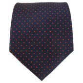 Mini Dots - Navy/Red from TheTieBar.com - Wear Your Good Tie Everyday - Groomsmen gift with a bottle of booze?
