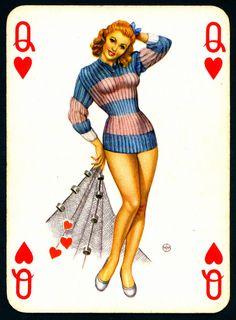Pin Up Playing Card
