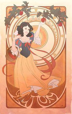 The 7 Deadly Sins in Art Nouveau Disney Princess Form? Disney Fan Art, Disney Princess Art, Disney Love, Disney Magic, Princess Style, Disney Style, Art Nouveau Disney, Disney E Dreamworks, Disney Pixar