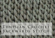 Tunisian Crochet Backwards Simple Stitch (+playlist)