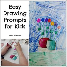 Easy Drawing Prompts for Kids - all you need for starting imaginative artwork