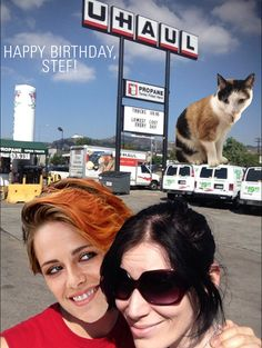 A birthday card for Stef via HAPPY BIRTHDAY STEF! LOVE, A+ AND THE INTERNET by Amy L.