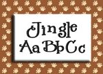 """Jingle Embroidery Font by 8Clawsandapaw.com, .75, 1, 2 and 3"""" $2.07"""