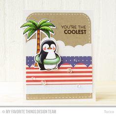 STAMPARADISE: MFT WSC 285 - MFT Stamps, Penguins in Paradise