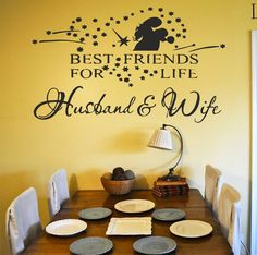 5% off Personalised best freinds for life husband and wife  wall art decal sticker reversible for door window panel ect. any smoth surface by MagicMomentsWallart on Etsy