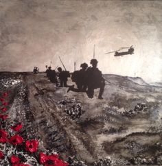 """Medic On The Mountain"" By Jacqueline Hurley  War Poppy Collection No.20 Facebook Port Out, Starboard Home POSH Original Art Twitter@POSHoriginalART"