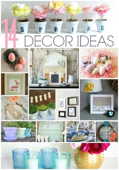 14 easy spring craft decor ideas to freshen up your home this spring @heytherehome.com Diy Spring, Spring Home Decor, Spring Crafts, Spring Time, Spring Decorations, Spring Garden, Spring Projects, Diy Projects, Diy Décoration