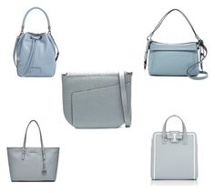 """ThursdayPurse - Ice Blue"" by mspippistyle ❤ liked on Polyvore featuring Valextra, Marc by Marc Jacobs, Delvaux, MICHAEL Michael Kors, bag, purse and iceblue"