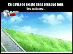 Ce paysage existe dans presque tous les animes... - Be-troll - vidéos humour, actualité insolite