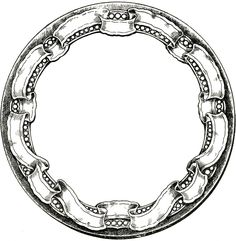 Vintage Round Graphic Frame with Ribbon Border! - The Graphics Fairy  NOTE: use this frame to add to jars of treats.