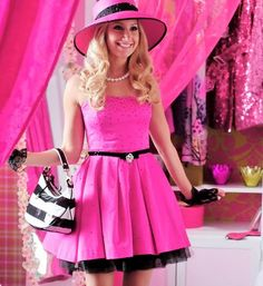 sharpay (ashley tisdale) love her pink girlyness Ashley Tisdale, High School Musical, Pink Outfits, Cute Outfits, Look Rose, Barbie, Strapless Cocktail Dresses, Everything Pink, Pink Princess