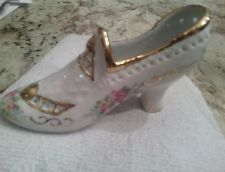 Limoges white and gold flowered shoe