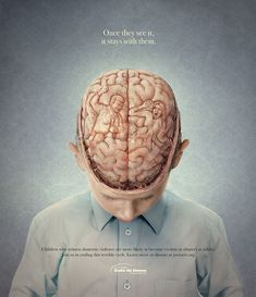 The power of a key visual #violence #children #keyvisual #advertising #safeathome