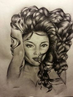 My sketch !!! I think shes Beautiful... Im kinda proud of this!!