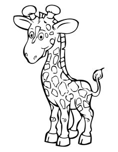 Cartoon Giraffe Coloring Pages from Animal Coloring Pages category. Printable coloring images for kids that you can print out and color. Have a look at our collection and print out the coloring images for free. Zoo Animal Coloring Pages, Ocean Coloring Pages, Kids Printable Coloring Pages, Printable Animals, Fairy Coloring, Coloring Pages For Girls, Mandala Coloring Pages, Kids Coloring, Coloring Book