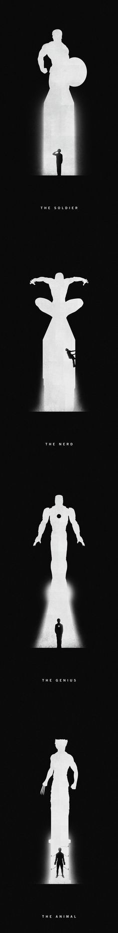 Superhero Artwork - repinning just for the Banner/Hulk feels that came out of nowhere. I need to go lie down now.
