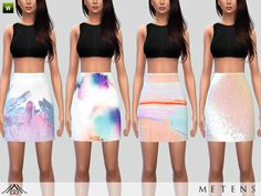 - Summer is coming and your simmies really need new bottoms for your beautiful and sexy tops, here are some new skirts for you! Waves, crystals, pastel colors, you will probably find at least one...