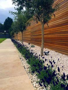 Garden Privacy Screen, Outdoor Privacy, Privacy Screens, Backyard Patio Designs, Backyard Fences, Horizontal Slat Fence, Garden Archway, Trellis Fence, London Garden
