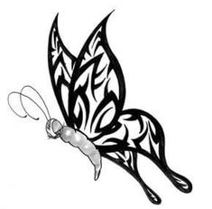 Tribal Tattoos - Dragon, Cross and Butterfly Tribal Tattoo Designs Free Tattoo Designs, Wing Tattoo Designs, Tattoo Designs For Women, Tattoos For Women, Tribal Butterfly Tattoo, Butterfly Tattoo Designs, Tribal Tattoos, Wing Tattoos, Butterfly Art