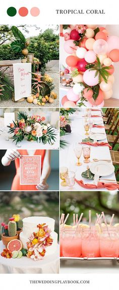 daae41cf40 Tropical coral wedding inspiration  weddingcolors  coralwedding   weddinginspiration Coral Wedding Decorations