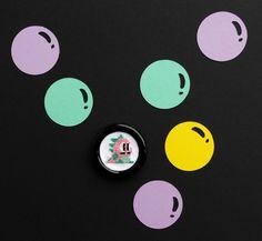 badge bubble bobble point de croix cross stitch