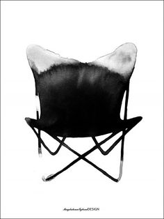 Chair Butterfly- poster